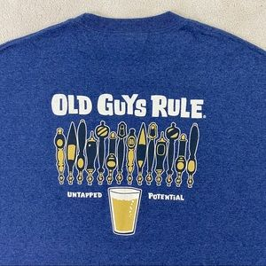 Old Guys Rule Beer Untapped Potential T Shirt SzXL
